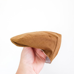 Toddler Boys Flat Cap - Cinnamon Brown Newsboy Hat - Kids Golf Hat - Photo Prop