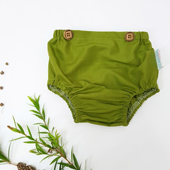 Green Baby Bloomers - Toddler Diaper Cover - Newborn Nappy Cover
