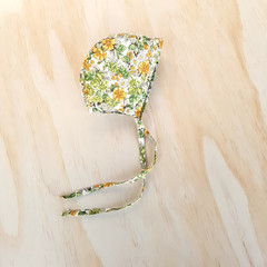 Floral Baby Bonnet - New Baby Girl Gift - Toddler Girl Hat - Christening Bonnet