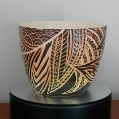 Scraffito ceramic bowl