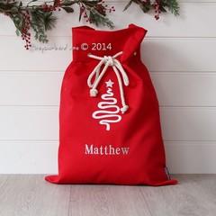 Santa Sack Tree - Red