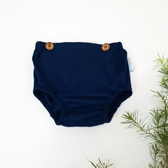 Midnight Blue Baby Bloomers - Toddler Diaper Cover - Navy Nappy Cover