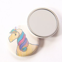 Pocket Mirror Rainbow Bright Unicorn + Junior Artist Design
