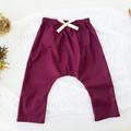 Girls Mulberry Harem Pants - Kids Loose Fitting Linen Pants - Toddler Leggings