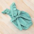 Mint Baby Girl Playsuit - Toddler Flutter Sleeve Boho Romper - Cake Smash Outfit