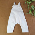 Cream Linen Kids Overalls - Unisex Baby Outfit - Toddler Boys Jumpsuit