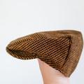 Toddler Boys Flat Cap - Woolen Newsboy Hat - Brown Wool Golf Hat - Photo Prop