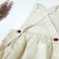 Cream Linen Baby Romper - Newborn Coming Home Outfit - Toddler Boho Playsuit