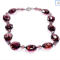 Wine Color CHERRY FIRE CRYSTAL , Fabulous Necklace.