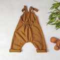 Cinnamon Brown Baby Overalls - Toddler Kids Jumpsuit - Gender Neutral Dungarees