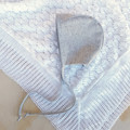 Grey Linen Baby Bonnet - Gender Neutral Baby Shower Gift - Christening Bonnet