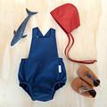 Midnight Blue Baby Romper - Navy Blue Toddler Playsuit