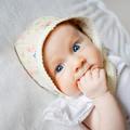 Floral Baby Bonnet - Christening Hat - Ivory Lace Baby Bonnet