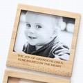 Joy of Grandchildren  magnetic photo frame bamboo