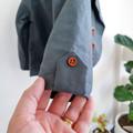 Little Boys Blazer - Grey Linen Suit Coat - Toddler Boys Jacket