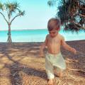 Cream Linen Harem Pants - Kids Loose Fitting Linen Pants - Toddler Baby Leggings