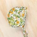 Floral Baby Bonnet - New Baby Girl Gift - Toddler Girl Hat - Christening Bonnet