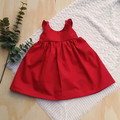 Girls Crimson Red Flutter Sleeve Dress - Baby Girls Christmas Outfit