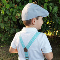 Grey Linen Baby Hat - Toddler Flat Cap - Boys Golf Cap