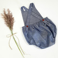 Blue Chambray Baby Romper - Toddler Boys Playsuit