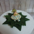 """""""Not So Shy"""" Gnome in a Bubble Bath Birthday / Christening Cake Topper"""