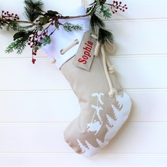 Christmas Stocking Sleigh - Natural