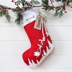 Christmas Stocking Sleigh - Red