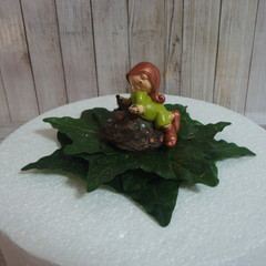 """So Tired I'll Sleep on a Rock"" Gnome  Birthday / Christening Cake Topper"