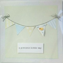 Hand-Embroidered Baby Bunting Card Ducky Design