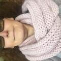 Knitted pink infinity scarf, pink cowl, pink chunky scarf, ladies scarf, ladies