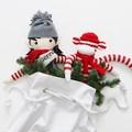 Santa Sack Snowman - White with Holly