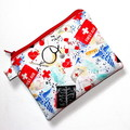 Medium Pouch with Zip in First Aid Fabric