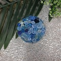 Pattern Weight - BLUE Buttons Round Small - Drink or a Paperweight - SINGLE