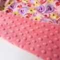 Floral candy pink  blanket