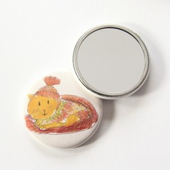 Pocket Mirror Linus The Cat + Junior Artist Design
