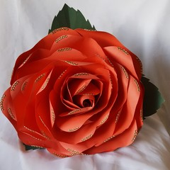 Stunning Diamante Giant  Paper Rose Flower Wedding Bouquet
