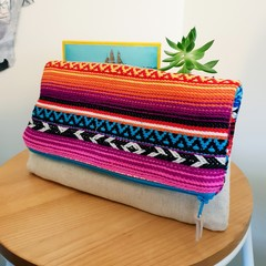 Boho foldover clutch purse