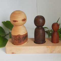 Toys of Wood River Family of three with base