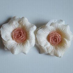 Shabby Chic Style Organza Rose Flowers
