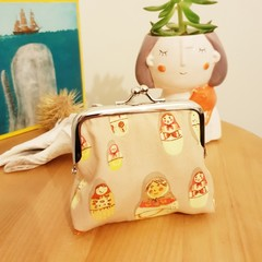 Handmade coin purse // Russian Babushka Dolls // gift idea