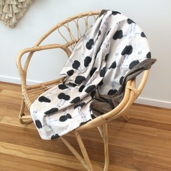 Emu print brown blanket