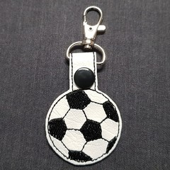 Soccer Ball Bag Tag Keyring
