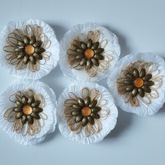 Sunflower & Burlap Loop Fringe Flowers