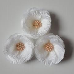 Pearl Cluster Ivory Silk Petal Rose Flowers