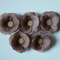 Rustic Rose & Burlap Button Flowers