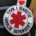 Type 1 Diabetes Insulin Dependent Bag Tag Keyring Key Tag white vinyl