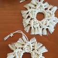 Macrame Christmas Tree Star Decorations/Ornaments