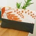 Linen foldover clutch purse