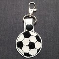 Soccer Ball Bag Tag Keyring