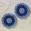 Two N.S.W. Crocheted Coasters in a 'My Team' Presentation Pack